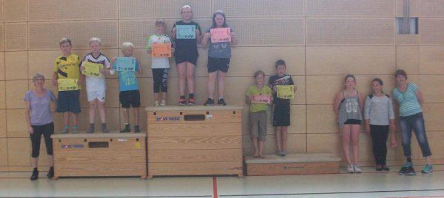 Bild 2: Die erfolgreichen 9-12jährigen beim Ferienpass des Landesberger SV